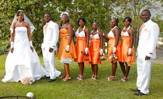 All-white for the wedding dress and the groom's suit. on The Fashion Time  http://thefashiontime.com/37-gorgeous-african-wedding-dresses/#sg28