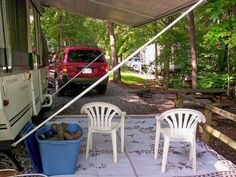 Modified Awning Poles Used Flag Pole Holders