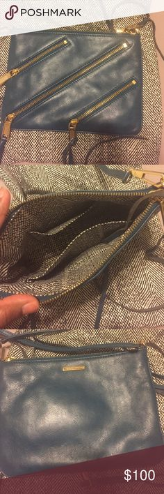 Crossover bag Like new Rebecca Minkoff crossbody Teal Rebecca Minkoff Bags Crossbody Bags