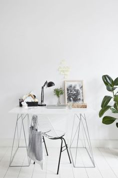 minimal white work space