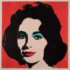 Andy Warhol - Liz II.7 | From a unique collection of prints and multiples at http://www.1stdibs.com/art/prints-works-on-paper/