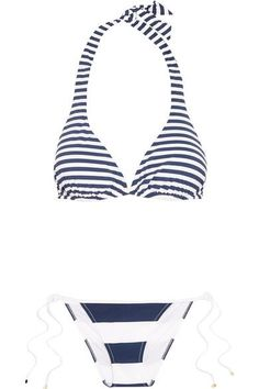 54446ef929fb6 Dolce   Gabbana - Striped triangle bikini