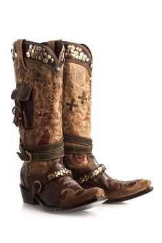 Double D Ranch by Lane Boots Women's Frontier Trapper Cowgirl Boots