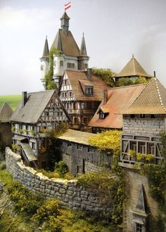 "CASTLE - Castle - Fortress Diorama ""BURG WEIR FRIED"" 