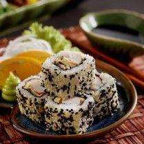 SUSHI SESAME ROLL CRAB http://www.sajiansedap.com/mobile/detail/17372/sushi-sesame-roll-crab