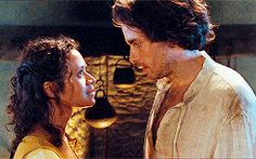 Gwen and Lancelot in Merlin (Angel Coulby and Santiago Cabrera)... I think she was better with him than Arthur :-(