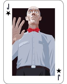 The Giant is the second joker in my Twin Peaks inspired Deck of playing cards