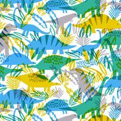dinosaur illustration print & pattern: DESIGN STUDIO - see creatures Dinosaur Fabric, Dinosaur Art, Dinosaur Prints, Textiles, Textile Patterns, Print Patterns, Graphic Design Illustration, Illustration Art, Kindergarten Art Projects