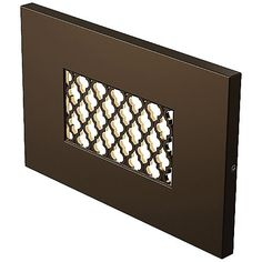 Tracery Horizontal LED Step Light by Ambiance Lighting Systems Patio Lighting, Landscape Lighting, Home Lighting, Led Step Lights, Recessed Downlights, Lighting System, Cool Landscapes, Light Led, Bronze