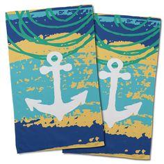 Island Girl Home Hand Towel Collection, Coastal Hand Towels Wholesale, Wholesale Nautical & Tropical Kitchen Towels Nautical Pattern, Anchor Pattern, Seaside Home Decor, Coastal Decor, Hand Towel Sets, Hand Towels, Tropical Kitchen, Nautical Kitchen, Girl House