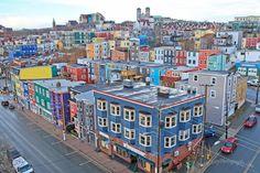 City of Colours Canada O Canada, Canada Travel, Beautiful Sites, Beautiful Places, Cities, Newfoundland And Labrador, Newfoundland Canada, Newfoundland Recipes, Atlantic Canada