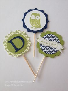 Hello! I have a cute project to show you today. My cousin is having a baby shower this weekend and I was tasked to make some cute decorations for the cupcakes. You may remember the invitation we cr...