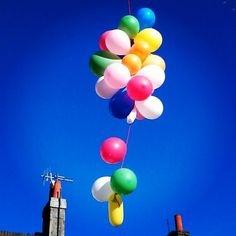 Balloons in North Laine, Brighton  By Laura Dinneen
