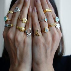 Peek a boo, ring style #StackingRings