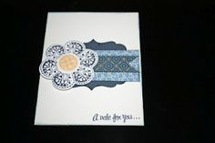 Just for You card using Pemberly and the Just for You stamp.