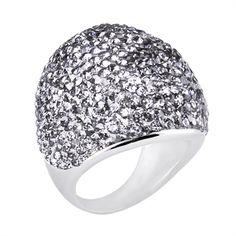 Grey Swarovski Ring $65