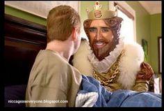 Nicolas Cage as the Burger King