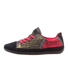 This patterned sneaker is an oh-so bright touch to your casual ensemble.
