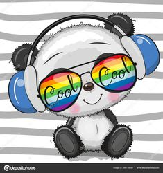 Cute Panda Drawing, Cute Panda Cartoon, Niedlicher Panda, Cool Panda, Panda Wallpapers, Cute Wallpapers, Cute Images, Cute Pictures, Animal Drawings