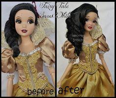 repainted ooak fairy tale designer snow white doll.