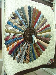 brown quilts   First neck tie quilt completed. Both quilts have ... : how to make a tie quilt - Adamdwight.com