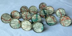 English-Towns-Shabby-Chic-Cufflinks-made-with-Vintage-English-Road-Maps