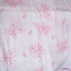 Printed cotton fabric  Pink Butterflies  1 yard by theDelhiStore, $8.00