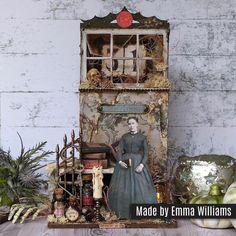 Halloween Shadow Box, Halloween Tags, Halloween Projects, Paper Decorations, Halloween Decorations, Paper Dolls, Art Dolls, Timmy Time, Graphic 45