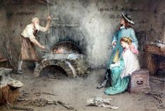 Artwork by John Arthur Lomax, 2 Works : Blacksmiths forge with Love Gained and Lost, Made of watercolours