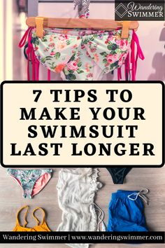Swimsuits can be expensive. Whether you're using them for training, working out, or lounging by the pool, how can you make your swimsuit last longer?