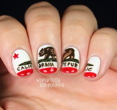 31 Day Nail Art Challenge - Day 28: Inspired by a Flag - Wondrously Polished