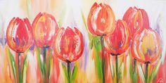 Kleurrijke tulpen Tulip Painting, Painting & Drawing, Watercolor Paintings, Dragonfly Art, Arte Floral, Painting Inspiration, Watercolor Flowers, Mixed Media Art, Flower Art