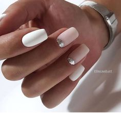 Ideas For Nails French Manicure Designs Ongles Cute Acrylic Nails, Fun Nails, Pretty Nails, Glitter French Nails, White Glitter, Nagel Hacks, Manicure E Pedicure, Manicure Ideas, Prom Nails
