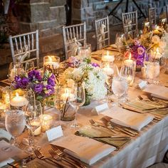 Our wedding breakfast table