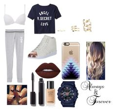 """Untitled #35"" by t-harrelson on Polyvore featuring Calvin Klein, Victoria's Secret, Lime Crime, Chanel, adidas, G-Shock and Casetify"