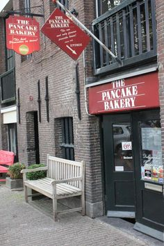 The Pancake Bakery, Prinsengracht 191, Amsterdam.Remember to eat your pancakes here,there are awesome.