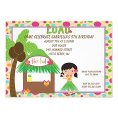 Hula Girl at Tiki Hut tBirthday Invitation you will get best price offer lowest prices or diccount couponeHow toReview on the This website by click the button below...
