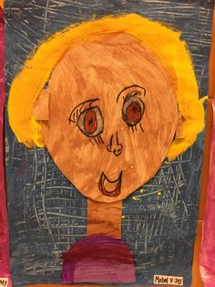 Kindergarteners have been learning about texture, color mixing, collage, and drawing from observation. This project took us 5 45 minute periods. Day one we read the book 'All the Colors of Us' by Sheila Hamanaka,about all the beautiful, different colKindergarteners have been learning about