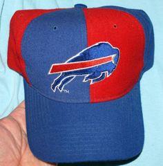 d12366529 Vintage Starter Natural Buffalo Bills Wool Pinwheel Snapback Hat Cap NFL  Football