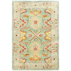 Safavieh Handmade Heritage Timeless Traditional Light Blue/ Ivory Wool Rug (2' x 3'), Size 2' x 3'