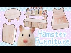 This is a tutorial on how to make all the hamster-sized popsicle stick furniture shown in the popsicle stick hamster house. There's a bed, a table, a shelf u...