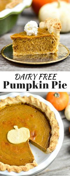 Homemade Pumpkin Pie recipe! This from scratch, dairy-free pumpkin pie has no sweetened condensed milk! Fresh, delicious