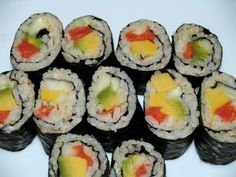 photo of Smoked Salmon Sushi Roll
