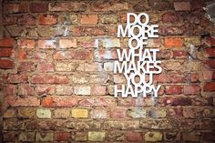 Weiteres - Do more of what makes you happy, ca. 35x58cm - ein Designerstück von westpakete bei DaWanda