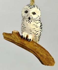 Adding this figurine of a majestic snowy owl to the rest of your seasonal décor is certainly a wise choice. Owl Ornament, Ornaments, Got Wood, Christmas Owls, Snowy Owl, Rustic Charm, Seasonal Decor, Charmed, Bird