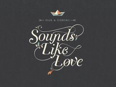 Sounds Like Love EP Release! by Oak & Gorski, via Kickstarter.
