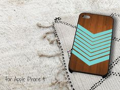 Arrow Blue Teal Wood iPhone 4 iPhone 4S Case by gardenpiano, $15.79