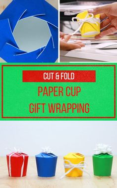 Turn paper cups into gift boxes for holiday cookies and treats!