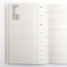 "Weekly Planner    Start every week right with this simple weekly planner. Made out of 100% recycled paper with 128 pages to chronicle 60 weeks.     Product details    Made out of 100% recycled paper. 128 pages (60 weeks). 5.5 x 8.25 "" (13.97 x 20.95 cm)"