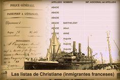 """Inmigrantes Pirenaicos (Las """"Listas de Christiane"""") - Estas listas contienen más de 51.000 registros de inmigrantes."""